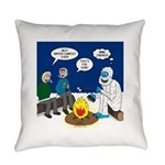 Yeti Winter Campout Everyday Pillow