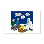 Yeti Winter Campout Rectangle Car Magnet