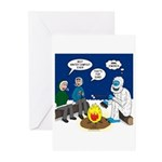 Yeti Winter Campout Greeting Cards (Pk of 10)