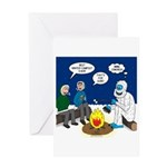 Yeti Winter Campout Greeting Card