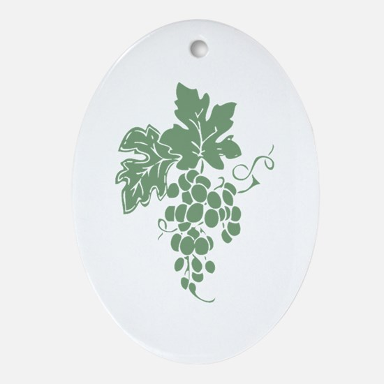 Green Grapes Ornament (Oval)