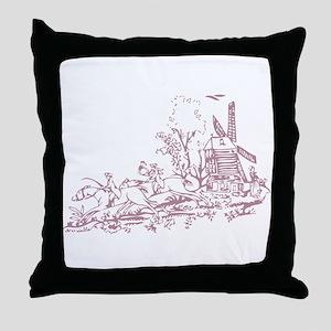 Rose Windmill Throw Pillow