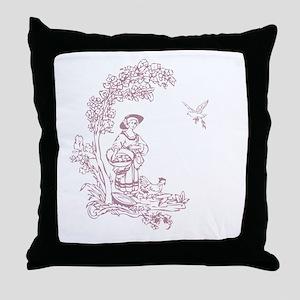 Rose Maiden Throw Pillow