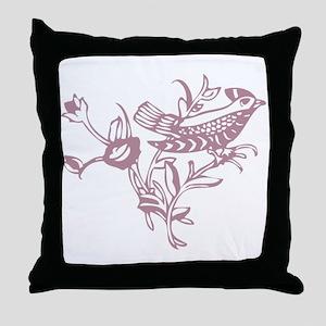 Rose Bird Throw Pillow