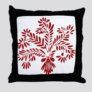Red Wheat Throw Pillow
