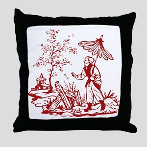Red Peasant Throw Pillow
