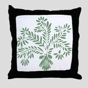 Sage Wheat Throw Pillow