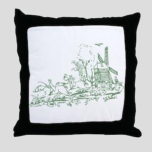 Sage Windmill Throw Pillow