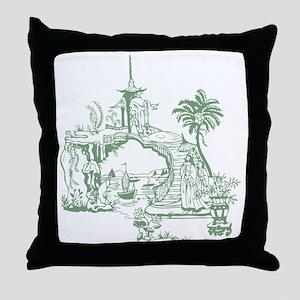 Sage Bridge Throw Pillow