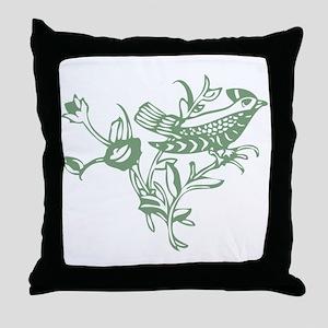 Sage Bird Throw Pillow