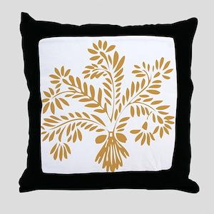 Gold Wheat Throw Pillow
