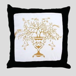 Gold Vase Throw Pillow