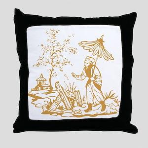 Gold Peasant Throw Pillow