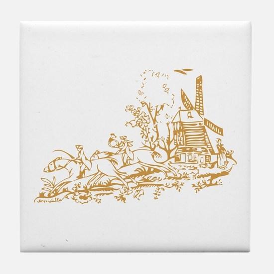 Gold Windmill Tile Coaster