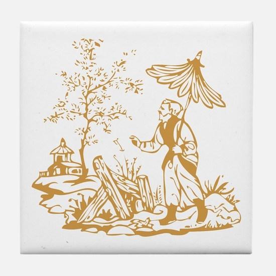 Gold Peasant Tile Coaster