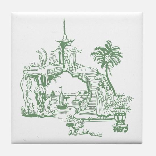Green Bridge Tile Coaster