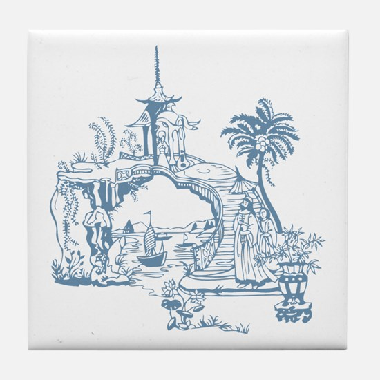 Blue Bridge Tile Coaster