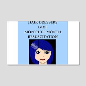 hairdresser beautician 22x14 Wall Peel