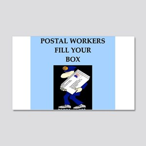mailman gifts and t-shirts 22x14 Wall Peel