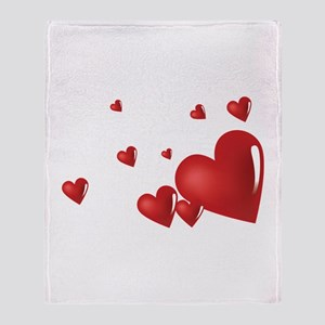 Hearts Throw Blanket