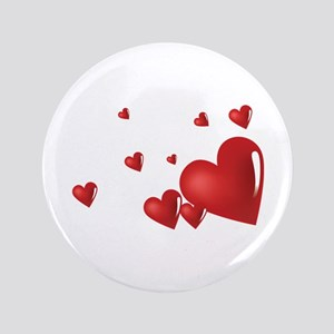 "Hearts 3.5"" Button"