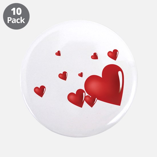 """Hearts 3.5"""" Button (10 pack)"""