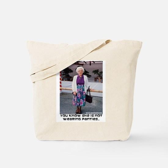 No Panties Tote Bag