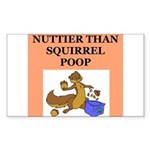 nutty crazy Sticker (Rectangle 10 pk)