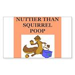 nutty crazy Sticker (Rectangle)