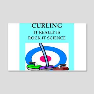 i love curling 22x14 Wall Peel