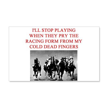 thoroghbred racing joke 22x14 Wall Peel