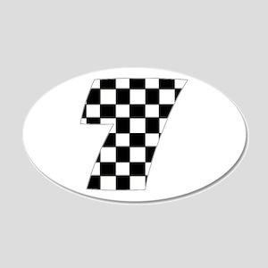 Danica Patrick 7 22x14 Oval Wall Peel