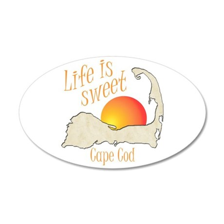 Life is Sweet Cape Cod 20x12 Oval Wall Decal