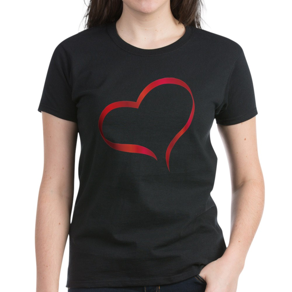 CafePress-Heart-Women-039-s-Dark-T-Shirt-Women-039-s-Cotton-T-Shirt-505359491 thumbnail 9