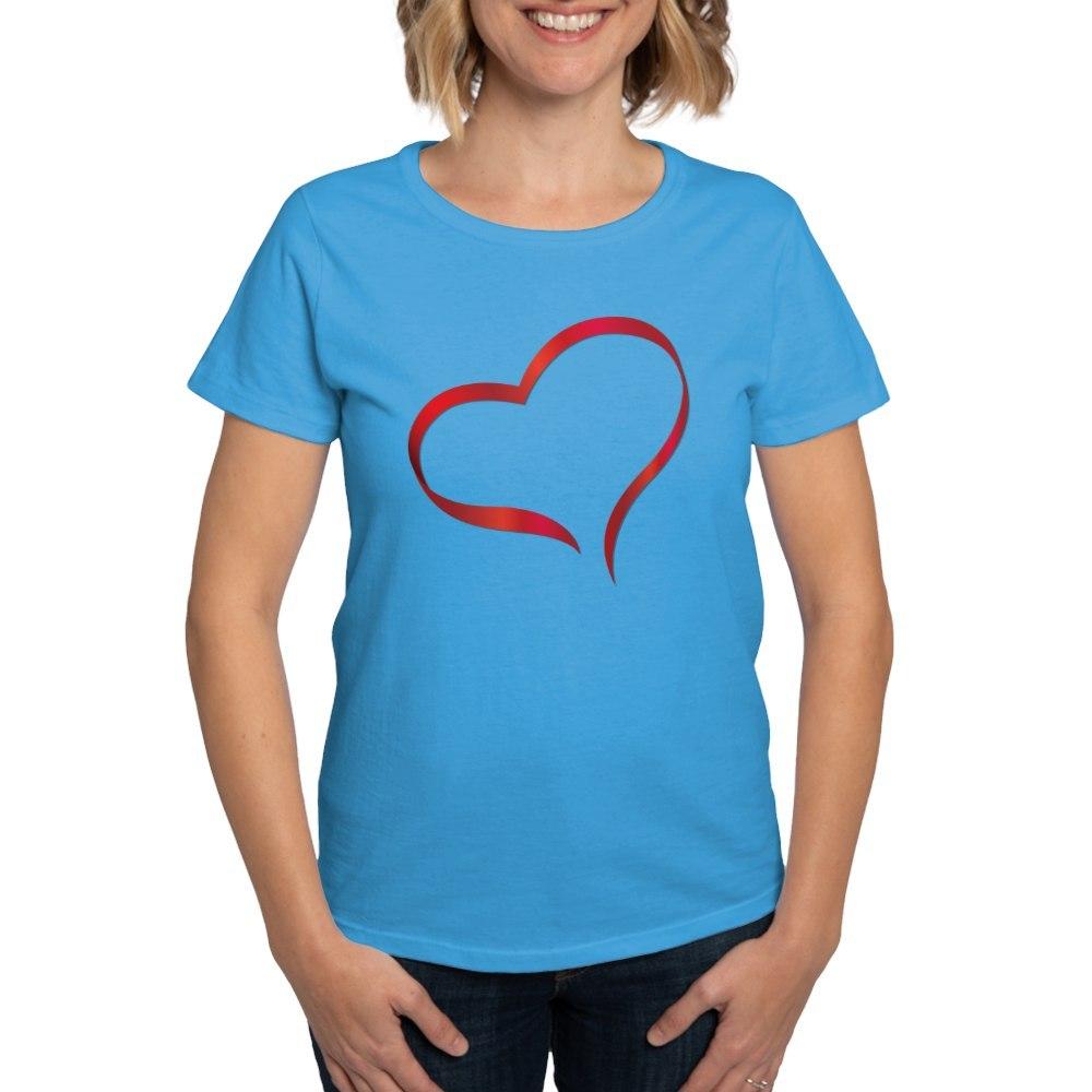 CafePress-Heart-Women-039-s-Dark-T-Shirt-Women-039-s-Cotton-T-Shirt-505359491 thumbnail 18
