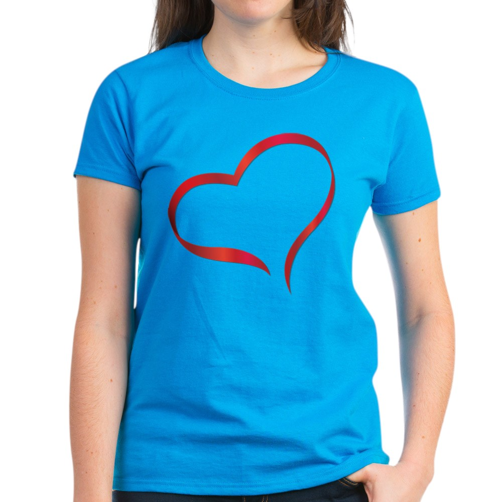 CafePress-Heart-Women-039-s-Dark-T-Shirt-Women-039-s-Cotton-T-Shirt-505359491 thumbnail 20