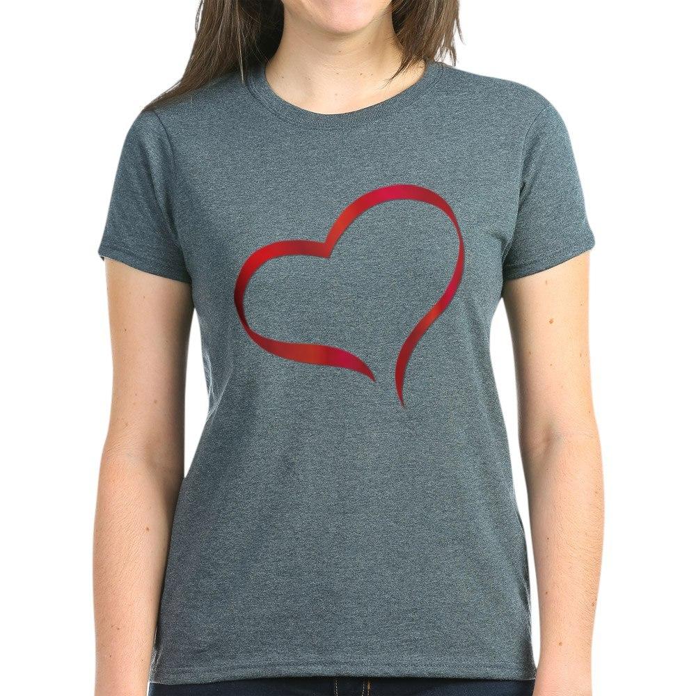 CafePress-Heart-Women-039-s-Dark-T-Shirt-Women-039-s-Cotton-T-Shirt-505359491 thumbnail 23