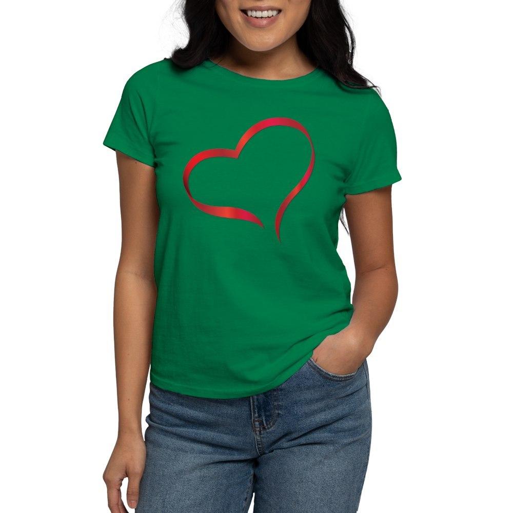 CafePress-Heart-Women-039-s-Dark-T-Shirt-Women-039-s-Cotton-T-Shirt-505359491 thumbnail 36