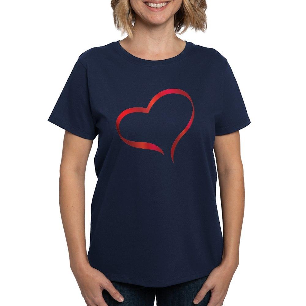 CafePress-Heart-Women-039-s-Dark-T-Shirt-Women-039-s-Cotton-T-Shirt-505359491 thumbnail 46
