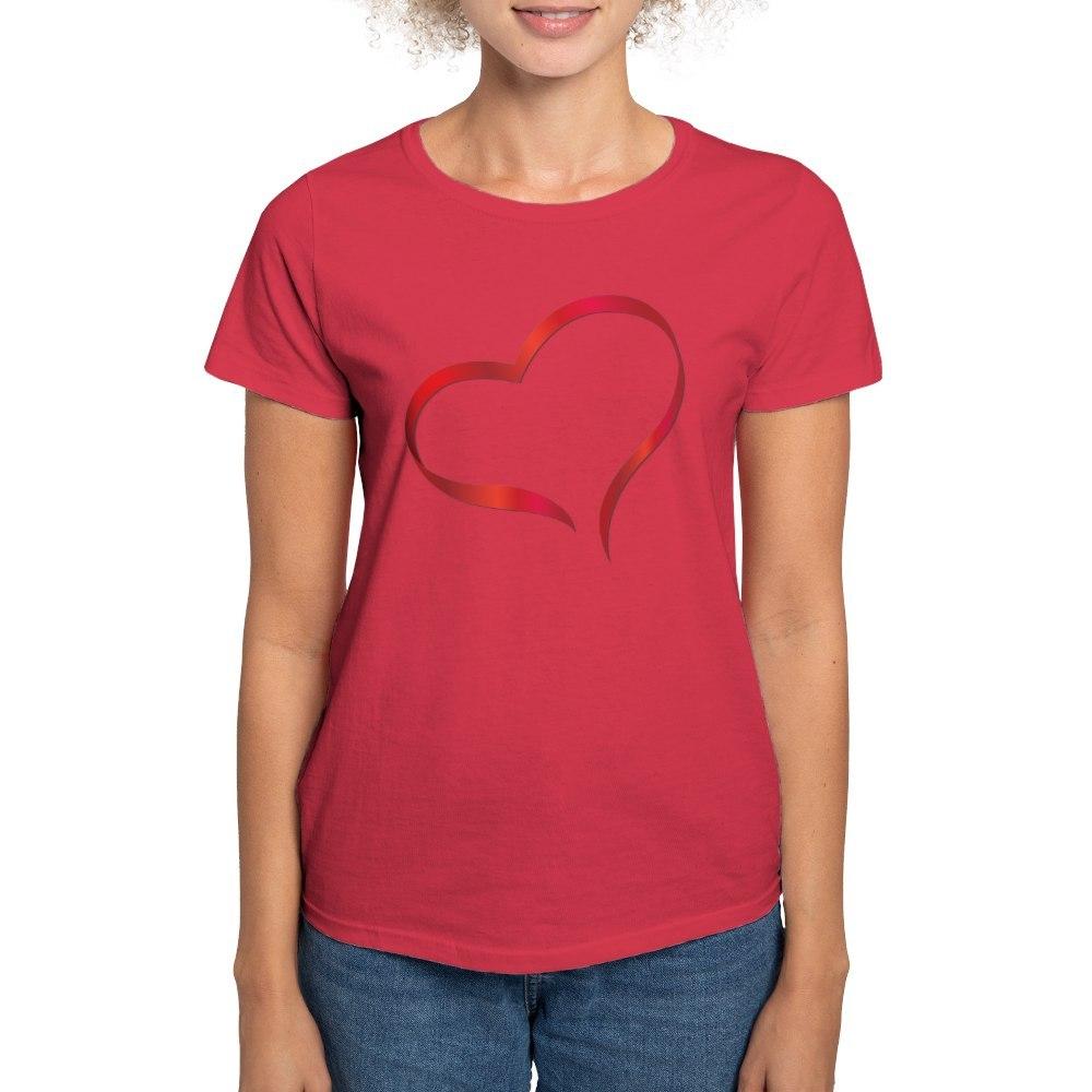 CafePress-Heart-Women-039-s-Dark-T-Shirt-Women-039-s-Cotton-T-Shirt-505359491 thumbnail 69