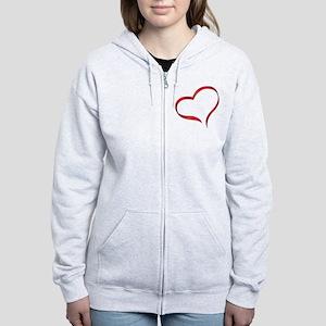 Heart Women's Zip Hoodie