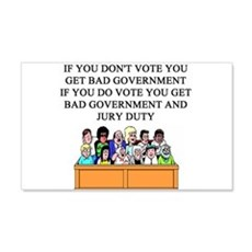 voter government jury duty 22x14 Wall Peel
