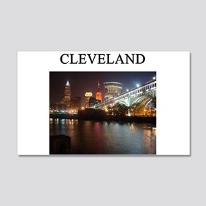 cleveland gifts t-shirts pres 22x14 Wall Peel