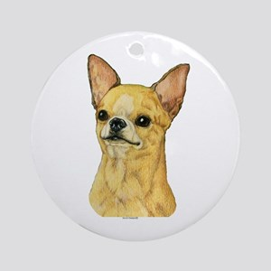 Smooth Coat Chihuahua Ornament (Round)