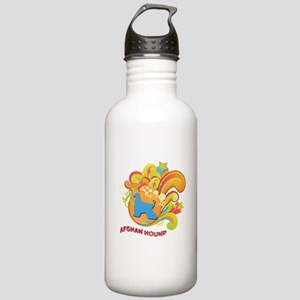 Groovy Afghan Hound Stainless Water Bottle 1.0L