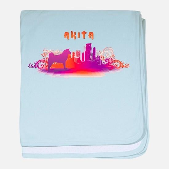 """City"" Akita baby blanket"