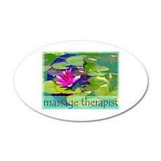 Massage Therapist / Waterlily Wall Decal