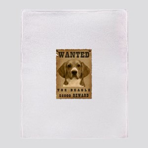 """Wanted"" Beagle Throw Blanket"