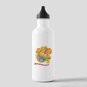 Groovy Belgian Malinois Stainless Water Bottle 1.0