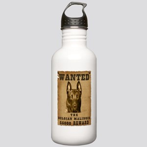 """""""Wanted"""" Belgian Malinois Stainless Water Bottle 1"""